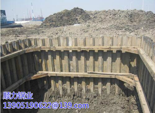 Exemples spécifiques et analyse du schéma de construction du support de palplanches en acier Linchen